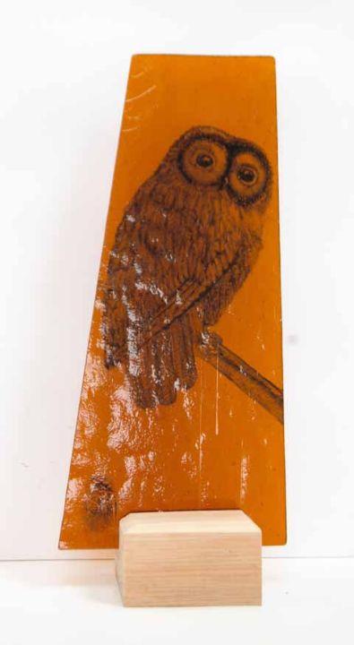 Owl on amber