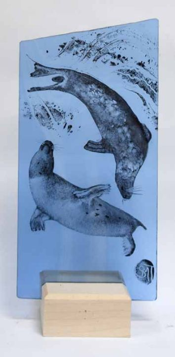 Seals 2 on Blue