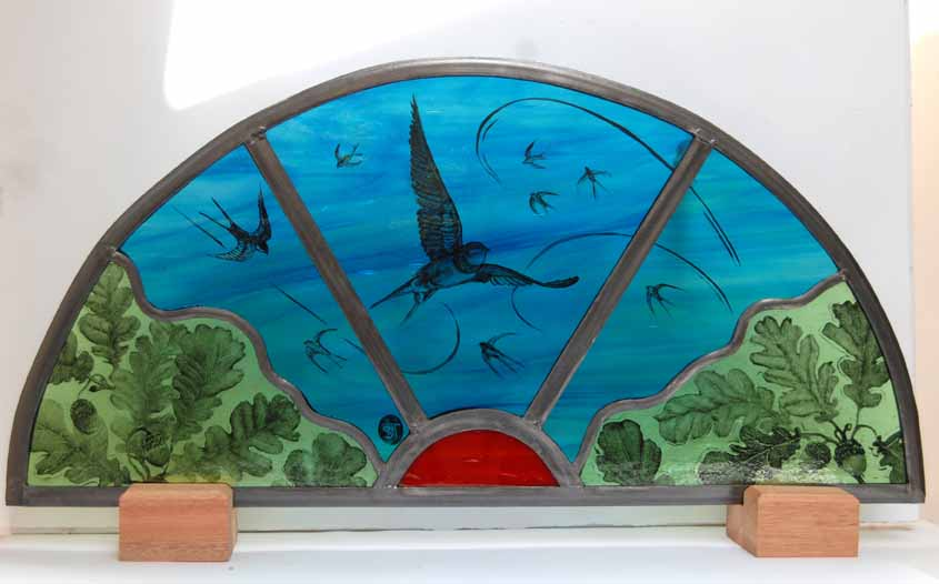 Swallow window finished to be installed
