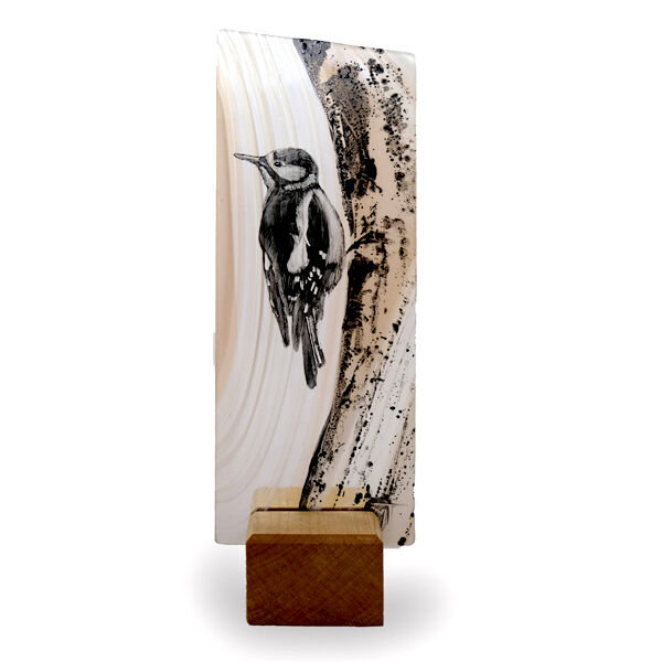 Woodpecker on tree. SOLD