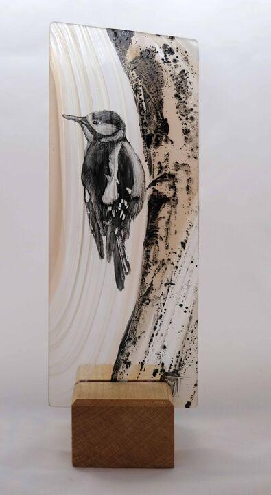 Woodpecker on tree. 100mm x 220mm £50