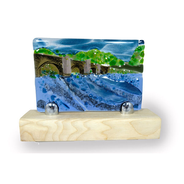 Llangynidr Bridge and the river Usk
