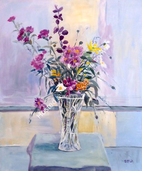 garden flowers in vase