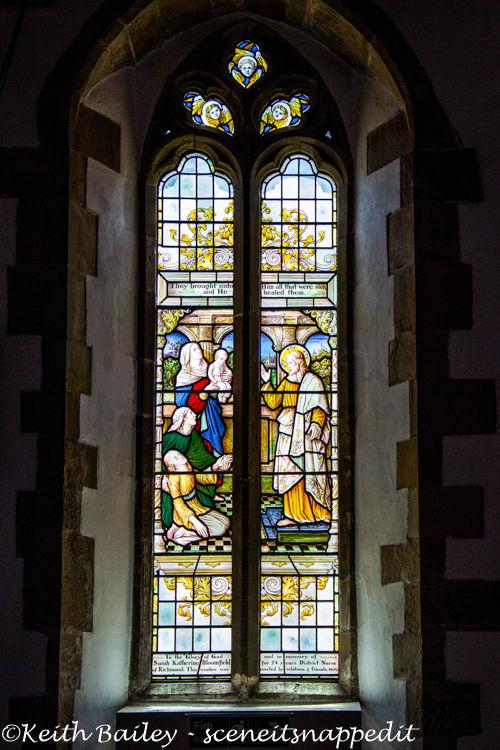 #44 South Window St Mary's Church Richmond Yorkshire