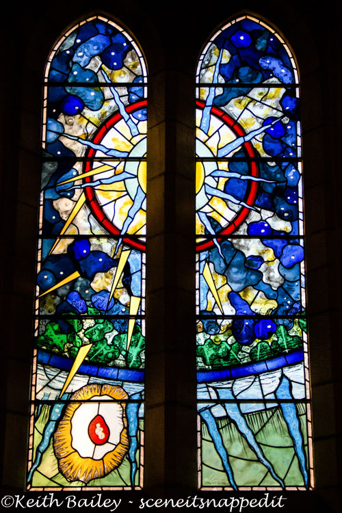 #60 Stained Glass Window Ampleforth Abbey