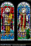 #64 Stained Glass Stokesay Church Shropshire