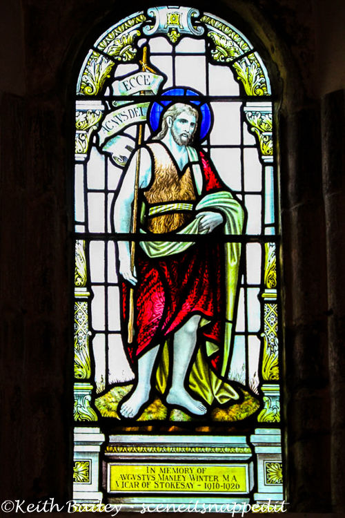 #65 Stained Glass Stokesay Church Shropshire