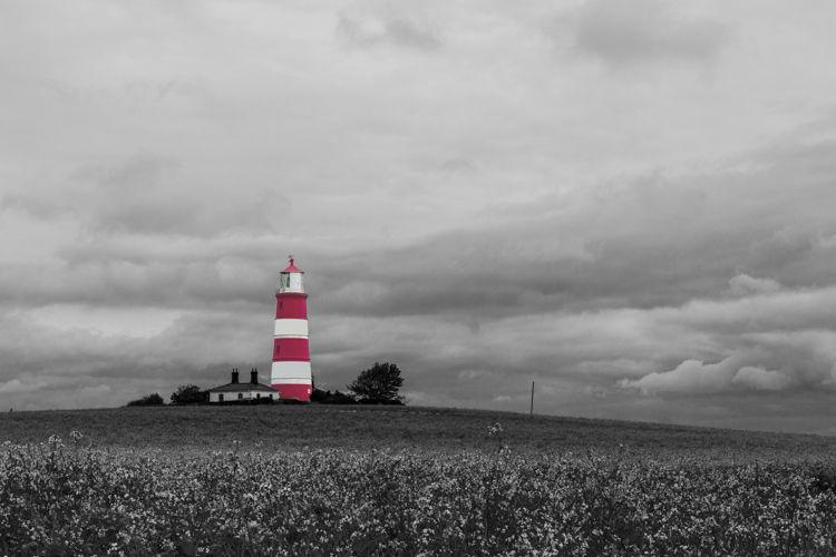 #87 Happisburgh Lighthouse Norfolk - A Coloursplash Image