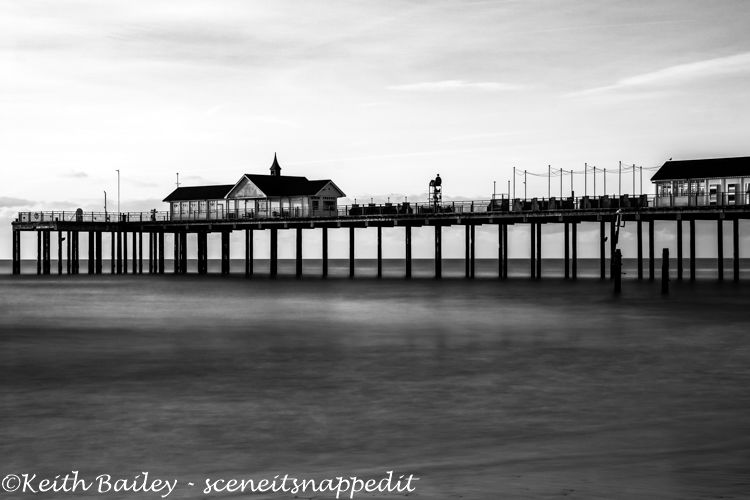 #89 Southwold Pier at Dawn - Mono Study