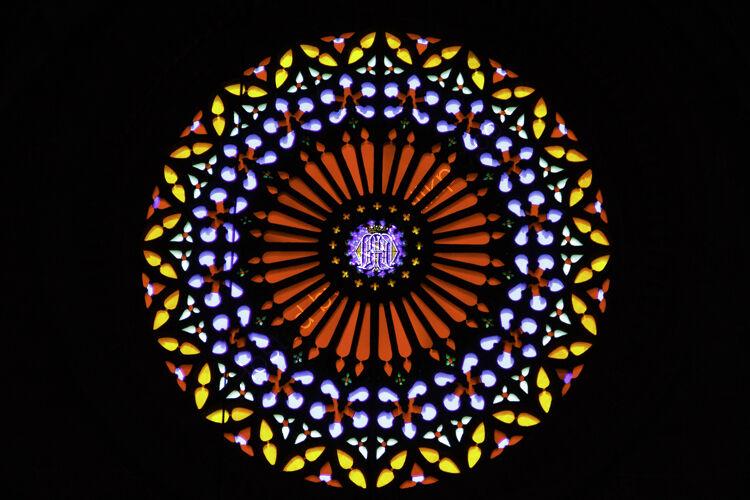 Circular Window Palma Cathedral Majorca