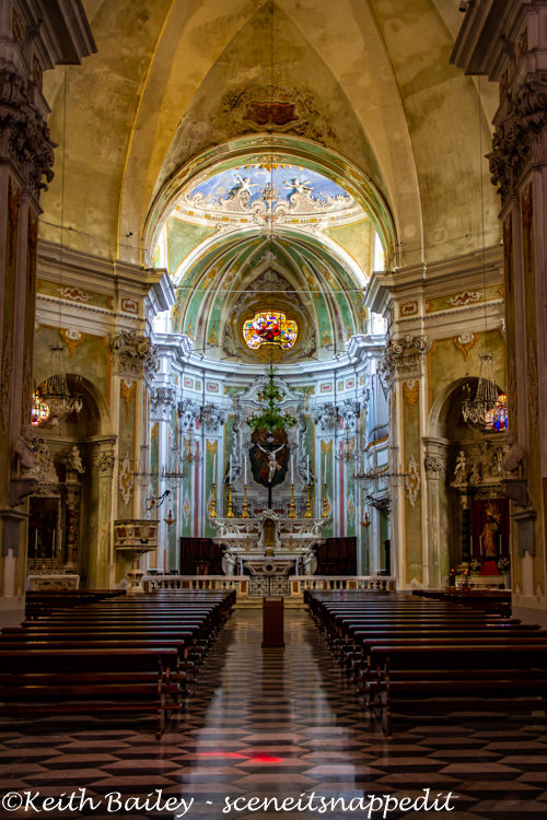 #120 Interior of the Church of San Matteo Laigueglia
