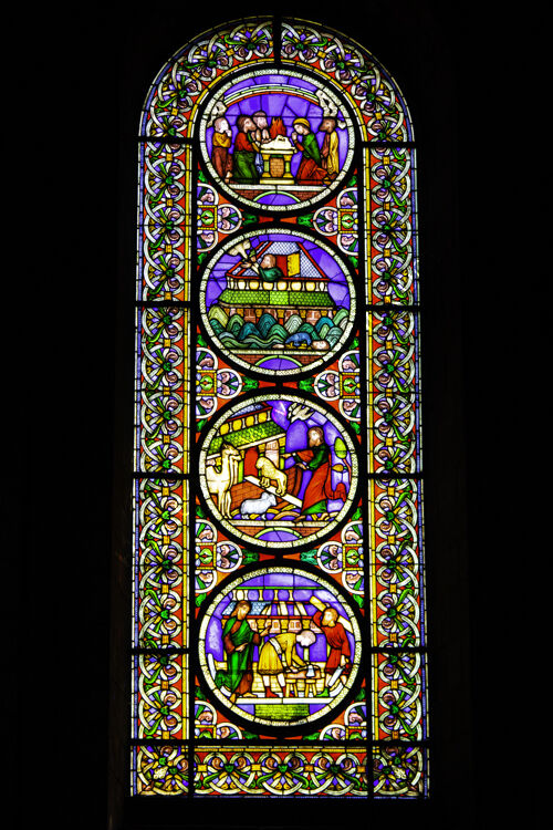 The Noah's Ark Window Ely Cathedral