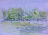 Watercolour sketch, Putney Heath