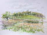 Watercolour sketch, The Regent's Park