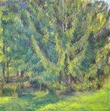 Autumn Pine I, 100 x 100xm