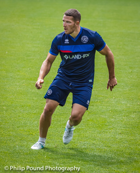 Connor Washington in action at training