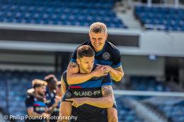 Jake Bidwell and Jamie Mackie