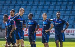 QPR football squad training at Loftus Road