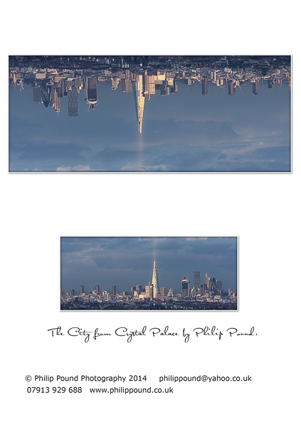 The City from Crystal Palace Greetings Card