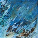 BLUE MACKEREL....Abstract (Square) ..(PRIVATE COLLECTION)