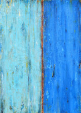 Ageing Blues (Mixed Media)..Gallery Wrapped Stretched Canvas 70cm X 50cm X 1.8cm