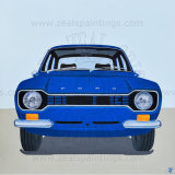 Escort Mk1 (Mexico_Blue) _Mixed Media on Gallery Wrapped Canvas 80cm x 80cm x 1.6cm
