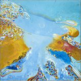 'Koi'.......Acrylic Abstract Painting On Canvas         90cm x 90cm x 3.7cm