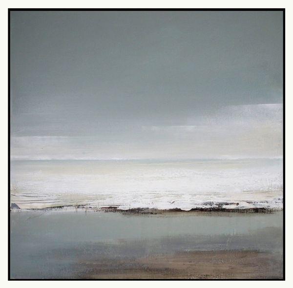 """Ebb-Tide"" Mixed Media on Canvas. 49x49cms."