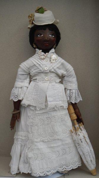 Black doll in 1890s costume