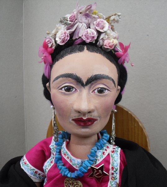 Frida Kahlo doll (detail)