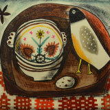 Breton Bowl and Felt Bird