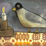 Felt Bird and Candle II