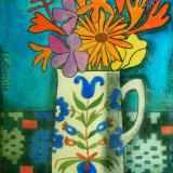Folk Jug and Garden Flowers