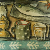 French Jug and Fish