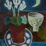 Moon and Cyclamen