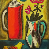 Still Life with Flame Coffee Pot