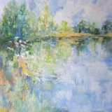 Spring reflections, River Severn. SOLD