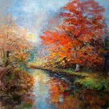 A New Forest River, Acrylic ws  sold