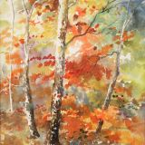 Autumns Gems, acrylic inks.ws  sold