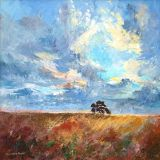 Cotswold Sky, Oil   sold