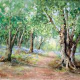 Old Beech, New Forest, Oil ws