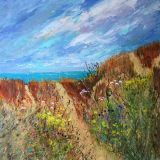 The Gower Dunes 1     Acrylic   Int        Box Canvas    50 x 50 cms