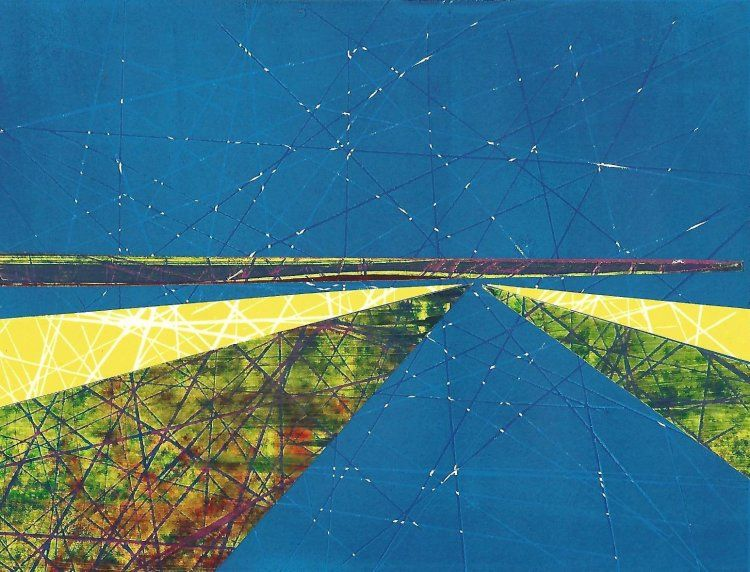 Blue Landscape collage