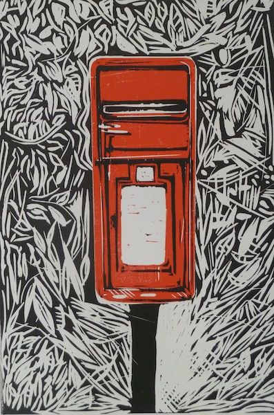 Postbox Black and red