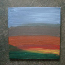 Lanscape with leftover paint