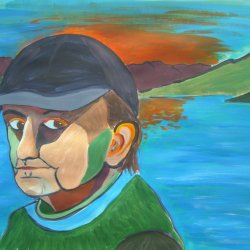Self portrait by the Cuillin