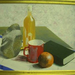 Still life with Orange and Book