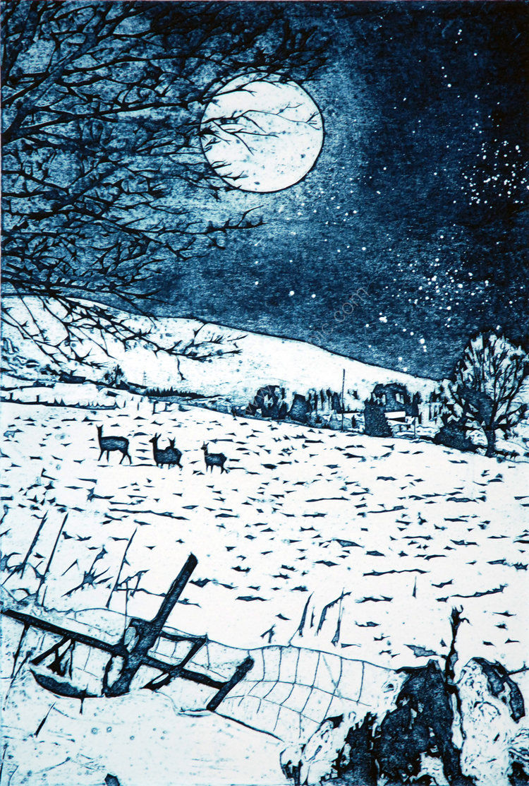 Full moon, Christmas morning