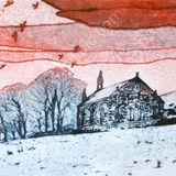 Loth church in snow