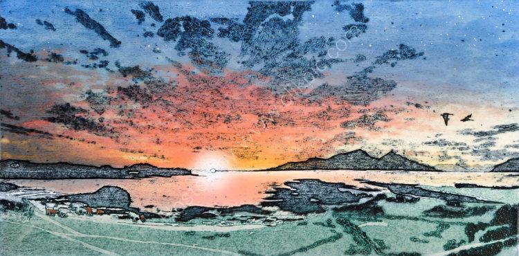 June sunset, Gallanach